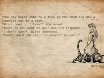 """DevOps? """"If you don't know where you're going, any road will get you there""""."""