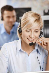 Demonstrating customer service skills