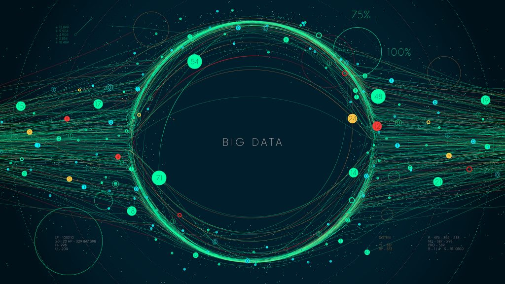 Big Data in Enterprise - visualization concept