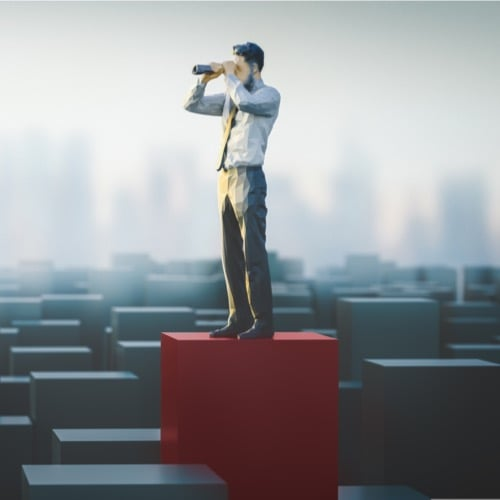 business continuity plan - business man looking ahead